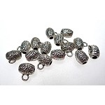 Flower Jewelry Bails with 2mm Hole (15)