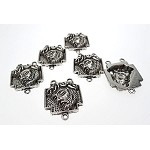 Tibetan Silver Jesus Rosary Parts, Dimensional Catholic Rosary Findings (6)