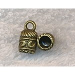Brass Decorative Bell Jewelry End Caps with 5mm Opening (10)