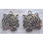 Double Sided Tiger Pendants Bulk (10)