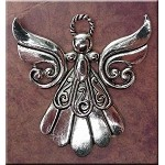 Large Angel Necklace, Everyday Silver Angel Jewelry