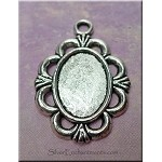 Oval Ruffled-Edge Bezel Pendant for Mixed Media