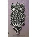 Owl Connector Pendant, 38x18mm