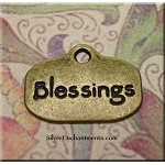 Blessings Charm, Antique Brass Finish