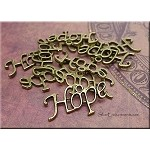 Hope Word Charms, Antique Brass, Bulk (10)