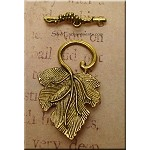 Antique Gold Grape Leaf Toggle Clasp, Pewter