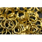 Gold Plated 6mm Splitrings, Bulk 100pc Split Rings