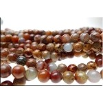 6mm Round African Opal Jasper Beads, Variegated Gemstone Beads Strand