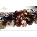Carnelian Fire Agate Beads, 14mm Faceted Rondelle