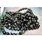 12mm Faceted Round Fire Agate Beads Strand
