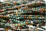 4mm Round Natural Fancy Agate Beads Strand