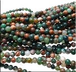 6mm Round Fancy Agate Beads Strand