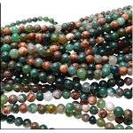 6mm Round Fancy Agate Beads