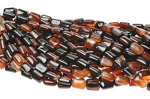 Brazilian Carnelian Agate Beads, 15x10mm Pillow