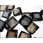 Agate Pendants, Designer Grey Agate Focal Pendant Beads with Dark Edge, Gray Agate Pendants (1)