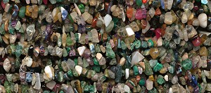 Multi Gemstone Chips, 36-inch Strand