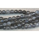 Dragon Vein Agate Beads, Faceted 8mm Round