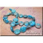 Crazy Lace Agate Beads, 15mm Blue