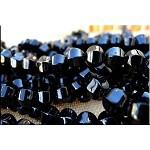 10mm Black Onyx Melon Beads