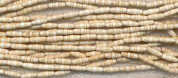 Bone Beads, Carved Fancy Rice, 10x4mm