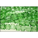 Chinese Crystal 8mm Cube Beads, Peridot, 10pc