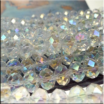 12mm Rondelle Crystal Beads, CRYSTAL AB