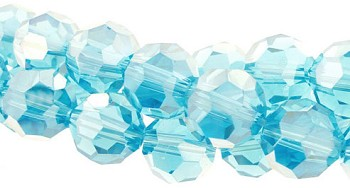 4mm Round Crystal Beads, AQUAMARINE AB Blue