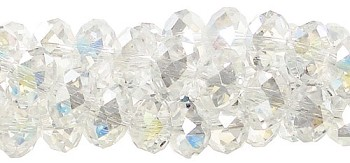4mm Rondelle Crystal Beads, CRYSTAL AB