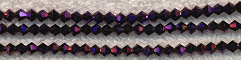 3mm Bicone Crystal Beads METALLIC PURPLE