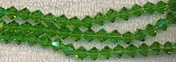 6mm Bicone LIGHT EMERALD GREEN Crystal Beads
