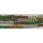 5mm Crystal Spacer Beads, MULTICOLOR Crystal Beads