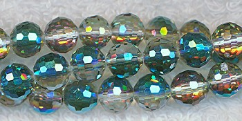 SOLDOUT - 8mm Round Crystal Beads, MYSTIC TOPAZ TEAL Disco Ball