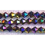 6mm Crystal Bicone Beads Strand, MULTI METALLIC VOLCANO