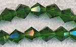 8mm Green EMERALD Bicone Crystal Beads Strand