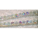 3mm Round Crystal Beads, CRYSTAL AB Crystal Beads