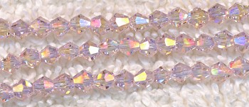 SOLDOUT - 6mm Bicone LIGHT ROSE AB Crystal Beads - CLEARANCE