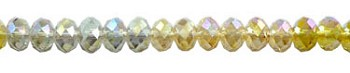 SOLDOUT - 8mm Rondelle Crystal Beads, DESIGNER MIX Silver Shade, Yellow Topaz