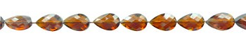 Teardrop Crystal Beads, 16x12mm BROWN TOPAZ