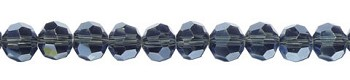 8mm Round Crystal Beads, MONTANA BLUE