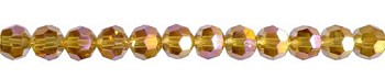 Crystal Beads, 6mm Round TOPAZ AB