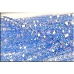 6mm Rondelle Crystal Beads, LIGHT SAPPHIRE AB