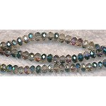 4mm Rondelle Crystal Beads, TEAL MYSTIC TOPAZ
