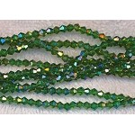 4mm Crystal Bicone Beads EMERALD AB Strand