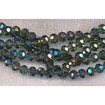 6mm Round Crystal Beads, INDIAN SAPPHIRE