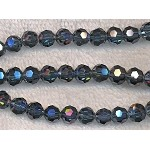 8mm Round Crystal Beads, INDIAN SAPPHIRE