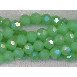 10mm Round Crystal Beads, JADE Green