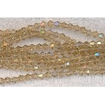 4mm Crystal Bicone Beads LIGHT TOPAZ Faceted Chinese Crystal Beads 75+ Beads per Strand