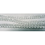 3mm Crystal Rondelle Beads Strand, CRYSTAL