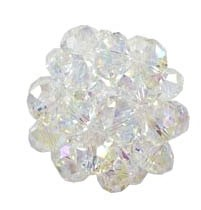 Crystal Beaded Beads, 28mm CRYSTAL AB Crystal Ball Beads