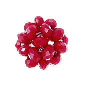 Crystal Beaded Beads, 28mm RED Crystal Ball Beads